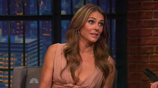 Elizabeth Hurley v televizi vyprávěla o úchylných fanoušcích.