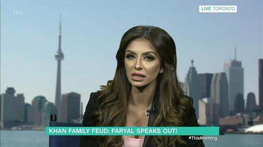 Faryl měla veřejný spor s manželovou rodinou.