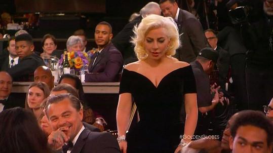 Leonarda DiCapria vyhlášení jména Lady Gaga upřímně pobavilo...