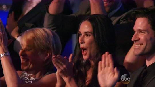Demi Moore v publiku nemohla chybět.