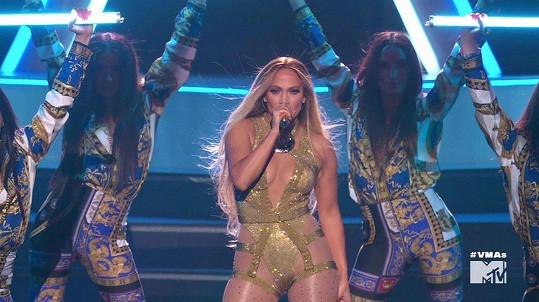 Jennifer Lopez předvedla parádní vystoupení.