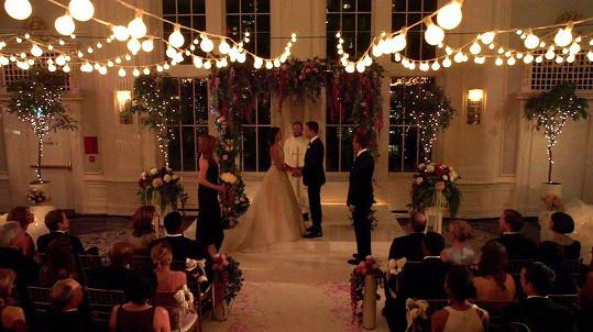 Šlo o podstatně skromnější svatbu, než která ji čeká za měsíc.