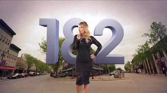 Jennifer to dotáhla až na 83 kilogramů (182 liber).