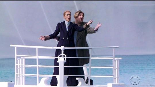 Corden miluje skeče. S interpretkou hitu My Heart Will Go On si zavzpomínali na film Titanic.