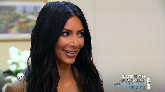 Kim těhotenství odhalila v reality show.