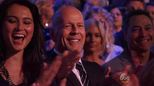 Bruce Willis neskrýval nadšení nad vítězstvím své dcery.