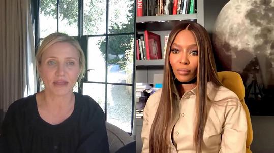 Cameron Diaz se rozpovídala o mateřství v rozhovoru s Naomi Campbell.