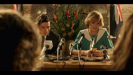Corrin s Joshem O´Connorem, představitelem prince Charlese