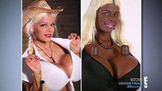 Martina chtěla vypadt jako Afričanka.