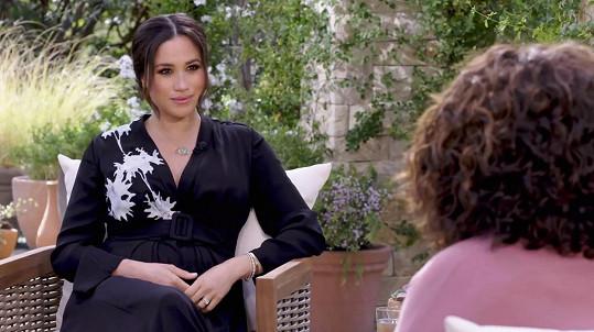 Část rozhovoru vedla Oprah Winfrey jen s vévodkyní.