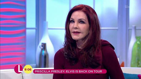 Priscilla Presley vyděsila diváky.
