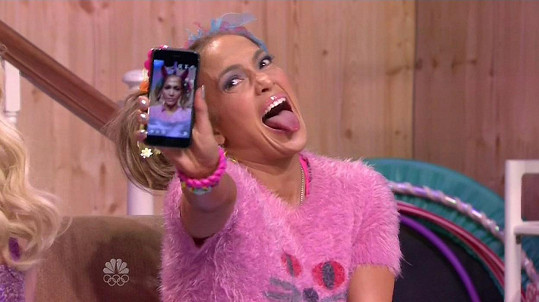 Na řadu přišla i šílená selfie...