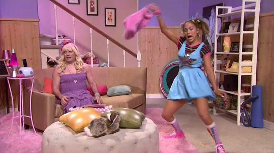 Jennifer Lopez a Jimmy Fallon v komické scénce v pořadu The Tonight Show