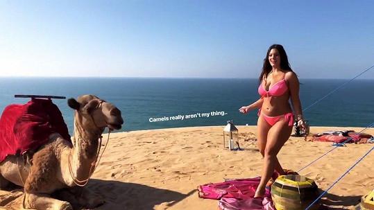 Modelka vyrazila do Maroka.