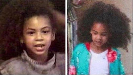 Sedmiletá Beyoncé (vlevo) a Blue Ivy dnes. Rozeznali byste je od sebe?