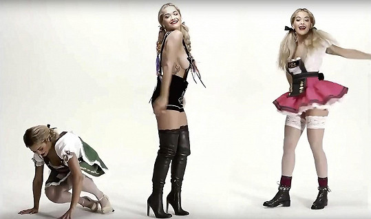 Bláznivé retro video je pro Ritiny fanoušky jistě vítaným předvánočním překvapením.