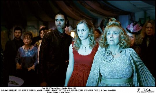 Jednou z hereččiných nejznámějších filmových rolí je paní Weasleyová v Harrym Potterovi.