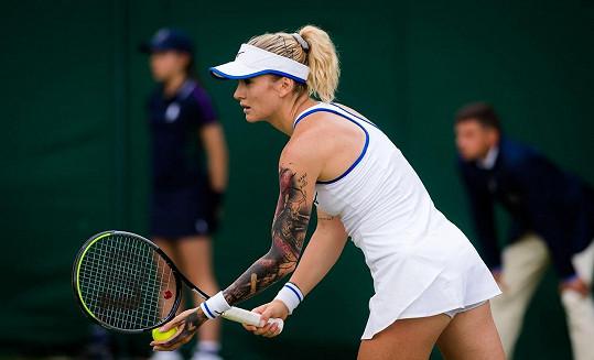 Během turnaje ve Wimbledonu předvedla Tereza kérky na paži.