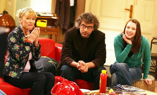 Kristýna Leichtová s Tomášem Matonohou a Danou Batulkovou v Comebacku