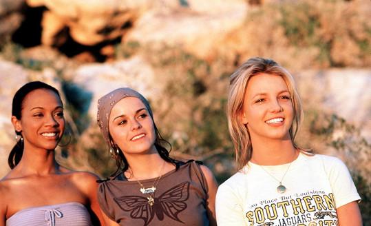 Taryn Manning (uprostřed) si zahrála Mimi ve filmu Crossroads s Britney Spears a Zoe Saldanou.