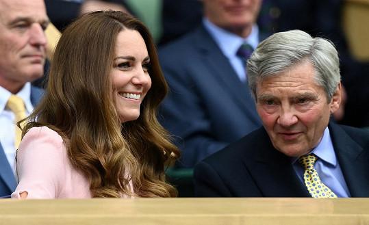 Vévodkyně Kate s otcem Michaelem Middletonem