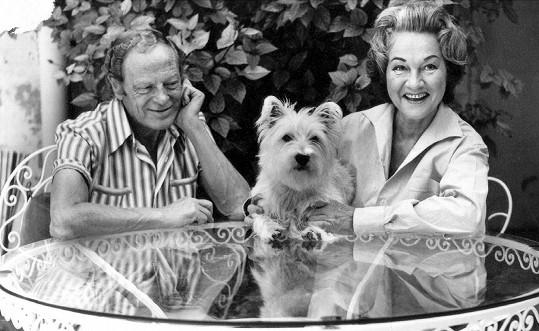 Adina Mandlová se svým čtvrtým manželem Benem Pearsonem
