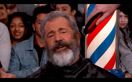 Mel Gibson byl ještě před několika dny vousáč.