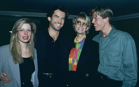 S Harris a jejími dětmi Charlotte a Christopherem