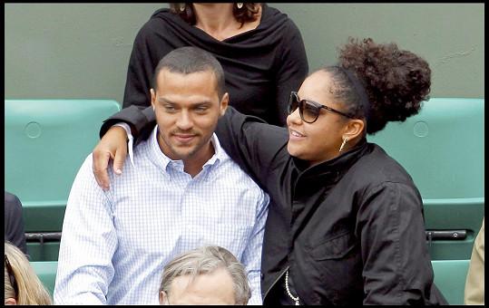 Jesse Williams s manželkou