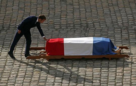 Prezident Emmanuel Macron vzdal hold legendě francouzského filmu.