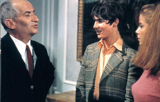 Jean Girault Louis de Funès a Olivier de Funès v roce 1967