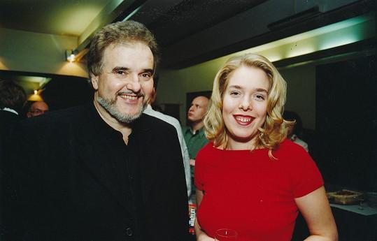 Radvít Novák s dcerou Ninou na archivní fotografii