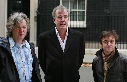 Slavná trojice moderátorů James May, Jeremy Clarkson a Richard Hammond