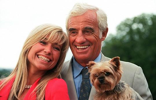 Jean-Paul Belmondo byl dvakrát ženatý. Na snímku s druhou ženou Natty, se kterou se rozvedl v roce 2008.