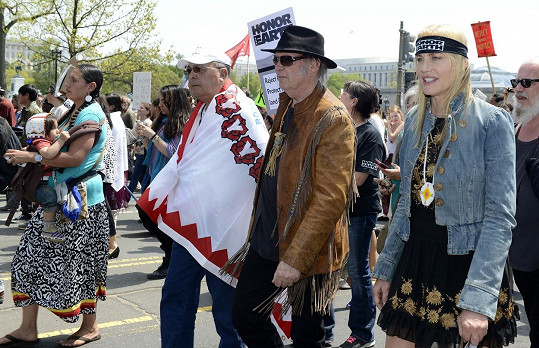 Poprvé spolu byli vidět na protestní akci v dubnu 2014.
