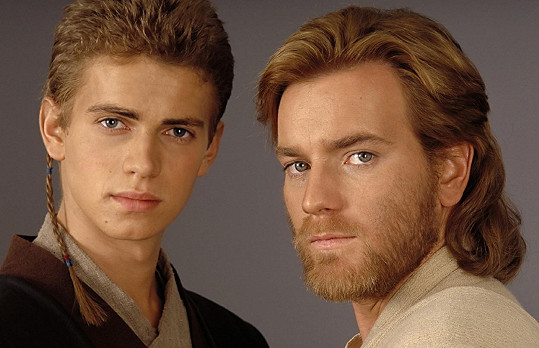 Christensen s Ewanem McGregorem ve Star Wars: Epizoda II - Klony útočí