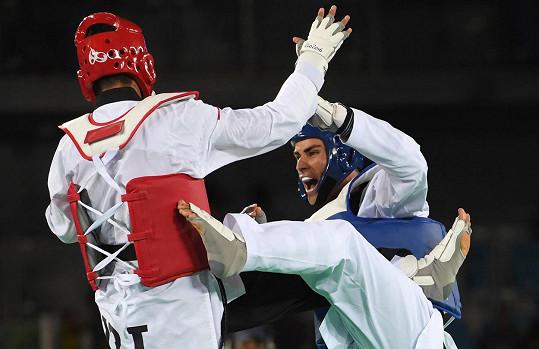 V Riu zápasil v taekwondu.