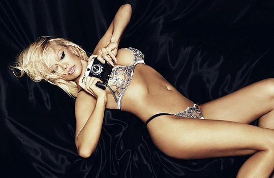 Pamela Anderson v kampani na luxusní kolekci spodního prádla