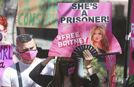 Za osvobození se z opatrovnictví otce Jamieho její fanoušci dokonce demonstrují. Zpěvačce její obří základna fanoušků stále vyjadřuje podporu.