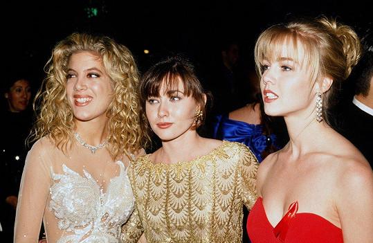 V době největší slávy s kolegyněmi Shannen Doherty a Jennie Garth.