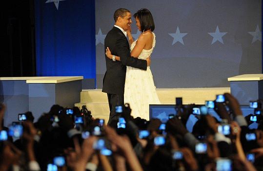 Bývalý prezident USA Barack Obama s manželkou Michelle (2009)