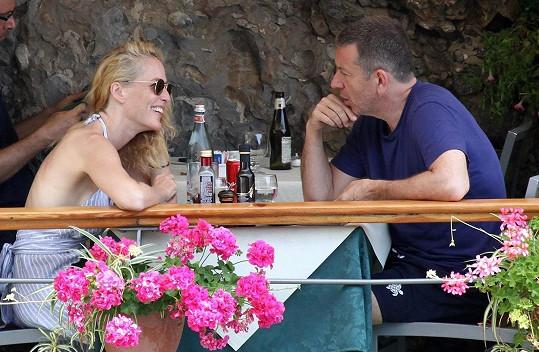 Gillian Anderson s přítelem Peterem Morganem
