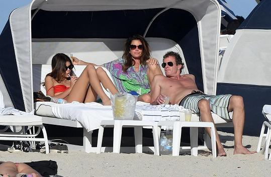 Kaia si užila sváteční čas s maminkou a tátou na pláži v Miami.