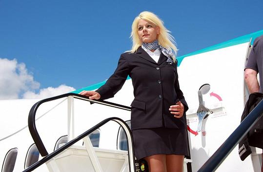 Martina Big v době, kdy pracovala letuška.