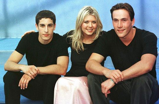Tara Reid s kolegy z filmu Prci, prci, prcičky Chrisem Kleinem (vpravo) a Jasonem Biggsem