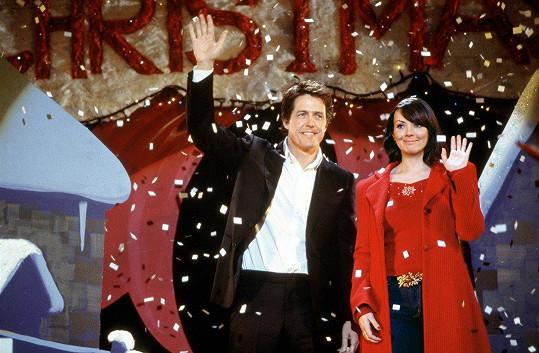 Martine McCutcheon a Hugh Grant v Lásce Nebeské.