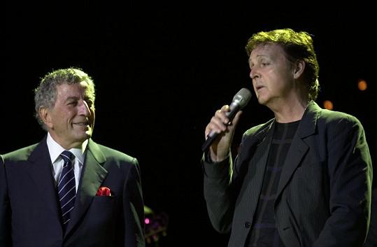 Na pódiu s Paulem McCartneym