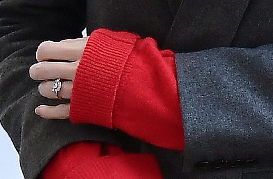 Zásnuby modelka potvrdila loni v únoru poté, co si média všimla prstenu.