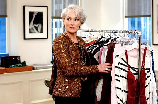 Meryl Streep jako Miranda Priestly ve filmu Ďábel nosí Pradu