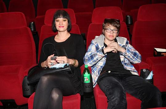Natálie Kocábová se synem Vincentem